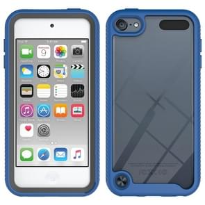 Voor iPod Touch 5 / 6 / 7 Tweelaagse designschokbestendige pc + TPU-beschermhoes(Blauw)