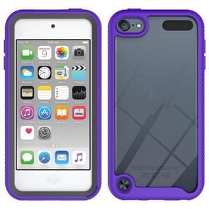 Voor iPod Touch 5 / 6 / 7 Tweelaagse designschokbestendige pc + TPU-beschermhoes(paars)