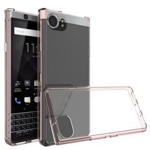 Voor Blackberry Keyone Krasbestendige TPU + Acryl beschermhoes (Roze)