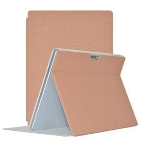Voor TECLAST M30 TECLAST Business Style Horizontal Flip PU Lederen beschermhoes met houder (Khaki)