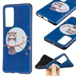 Voor Huawei P40 Embossment Patroon TPU Soft Cover Case (Tree Hawk)