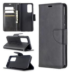 Voor Huawei P40 Retro Lambskin Texture Pure Color Horizontal Flip PU Leather Case met Holder & Card Slots & Wallet & Lanyard(Black)