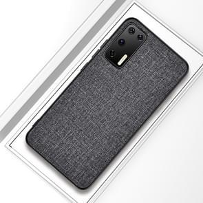 Voor Huawei P40 Shockproof Cloth Texture PC + TPU Beschermhoes (Silver Ash)