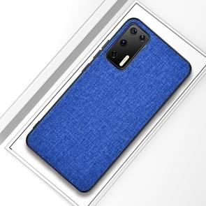 Voor Huawei P40 Shockproof Cloth Texture PC + TPU Beschermhoes (Style Blue)