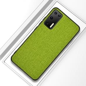 Voor Huawei P40 Shockproof Cloth Texture PC + TPU Beschermhoes (Groen)