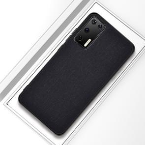Voor Huawei P40 Shockproof Cloth Texture PC + TPU Beschermhoes (Zwart)