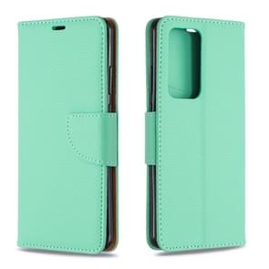 Voor Huawei P40 Pro Litchi Texture Pure Color Horizontal Flip PU Leather Case met Holder & Card Slots & Wallet & Lanyard(Groen)