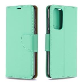 Voor Huawei P40 Litchi Texture Pure Color Horizontal Flip PU Leather Case met Holder & Card Slots & Wallet & Lanyard(Groen)