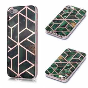 Voor iPhone 5 & 5s & SE Plating Marble Pattern Soft TPU Protective Case(Groen)
