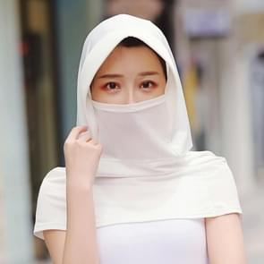 Zomer Outdoor Ice Silk Headscarf Shawl Face Mask Multifunctionele Zon Protection Equipment (Wit)