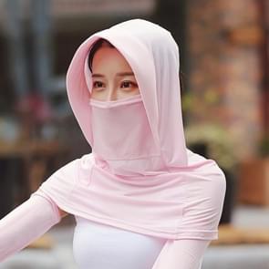 Zomer Outdoor Ice Silk Headscarf Shawl Face Mask Multifunctionele Sun Protection Equipment (Roze)