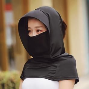 Zomer Outdoor Ice Silk Headscarf Shawl Face Mask Multifunctionele Sun Protection Equipment (Zwart)