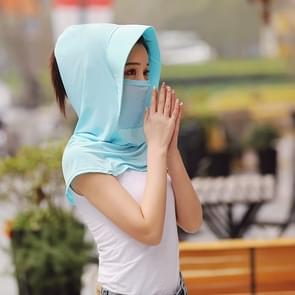 Zomer Outdoor Ice Silk Headscarf Shawl Face Mask Multifunctionele Zon Protection Equipment(Lake Blue)