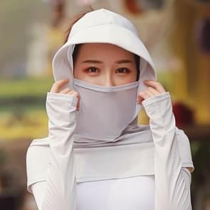 Zomer Outdoor Ice Silk Headscarf Shawl Face Mask Multifunctionele Sun Protection Equipment (Grijs)