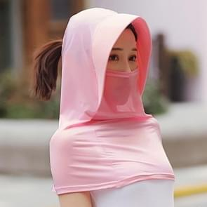 Zomer Outdoor Ice Silk Headscarf Shawl Face Mask Multifunctionele Zon Protection Equipment (Rood)
