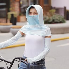 Zomer Outdoor Ice Silk Headscarf Shawl Face Mask Multifunctionele Sun Protection Equipment (Sky Blue)
