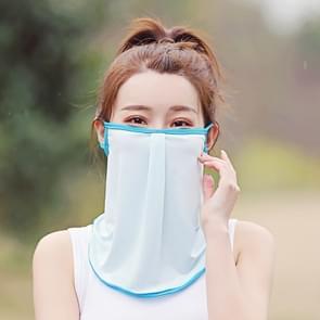 Zomer Outdoor Ice Silk Zonnescherm Gezichtsmasker Zon-proof Apparatuur (Lichtblauw)