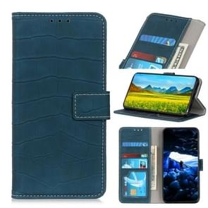 For Huawei Enjoy 10e Crocodile Texture Horizontal Flip PU Leather Case with Holder & Card Slots & Wallet(Dark Green)