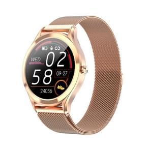 MK10 1 3 inch IPS Kleur Full-screen Touch Steel Strap Smart Watch  Support Weather Forecast / Hartslagmeter / Slaapmonitor / Bloeddrukbewaking(Goud)