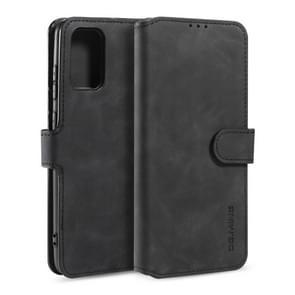 Voor Galaxy S20 DG. MING Retro Oil Side Horizontal Flip Case met Holder & Card Slots & Wallet(Black)