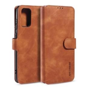 Voor Galaxy S20 DG. MING Retro Oil Side Horizontal Flip Case met Holder & Card Slots & Wallet(Brown)