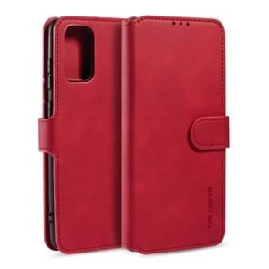 Voor Galaxy S20 DG. MING Retro Oil Side Horizontal Flip Case met Holder & Card Slots & Wallet(Red)