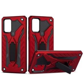 Voor Galaxy S20 Shockproof TPU + PC Beschermhoes met houder (rood)