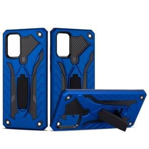 Voor Galaxy S20 Shockproof TPU + PC Beschermhoes met houder (blauw)