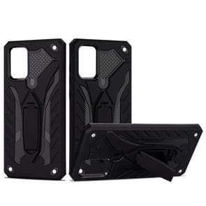 Voor Galaxy S20 Shockproof TPU + PC Beschermhoes met houder (zwart)