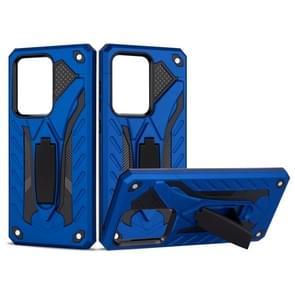 Voor Galaxy S20 Ultra Shockproof TPU + PC Beschermhoes met houder (blauw)