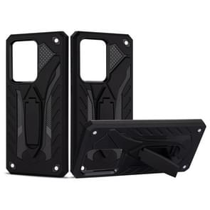 Voor Galaxy S20 Ultra Shockproof TPU + PC Beschermhoes met houder (zwart)
