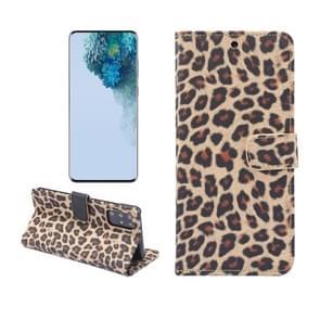 Voor Galaxy S20 Leopard Pattern Horizontal Flip Leather Case met Holder & Card Slots(Geel)