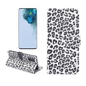 Voor Galaxy S20 Leopard Pattern Horizontal Flip Leather Case met Holder & Card Slots(Wit)