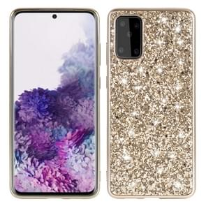 Voor Galaxy S20 Plating Glittery Powder Shockproof TPU beschermhoes (Goud)