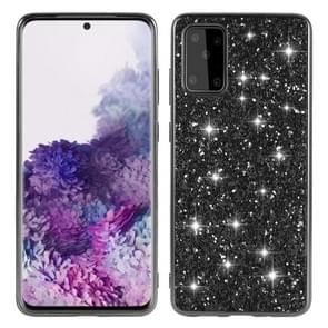Voor Galaxy S20 Plating Glittery Powder Shockproof TPU beschermhoes (Zwart)