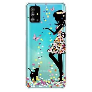 Voor Galaxy S20 Painted TPU Protective Case(Girl)
