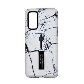 Voor Galaxy S20 Embossment Painted Pattern Protective Case met houder (Wit Marmer)