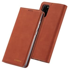 Voor Galaxy S20 LC. IMEEKE LC-002 Series Skin Hand Feeling PU + TPU Horizontal Flip Leather Case with Holder & Card Slot & Wallet(Brown)