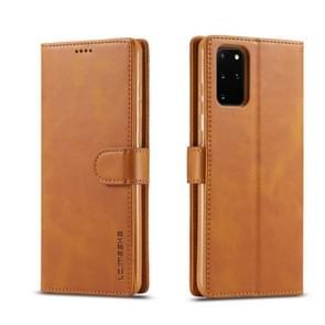 Voor Galaxy S20 LC. IMEEKE Calf Texture Horizontal Flip Leather Case  met Holder & Card Slots & Wallet & Photo Frame(Brown)