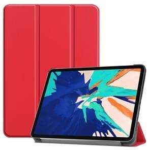 Voor iPad Pro 12 9 inch 2020 Custer Teature Smart Tablet Holster met sleep / Wake-up Function & 3-Fold Holder(Scarlet)
