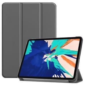 Voor iPad Pro 12 9 inch 2020 Custer Teature Smart Tablet Holster met slaap / wake-up functie & 3-voudige houder (grijs)