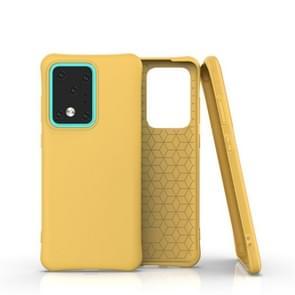 Voor Galaxy S20 Ultra Solid Color TPU Slim Shockproof Protective Case(Geel)