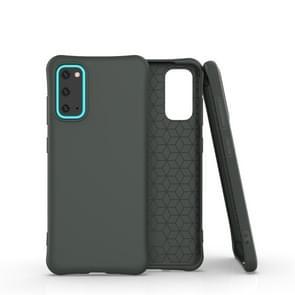 Voor Galaxy S20 Solid Color TPU Slim Shockproof Protective Case (Donkergroen)