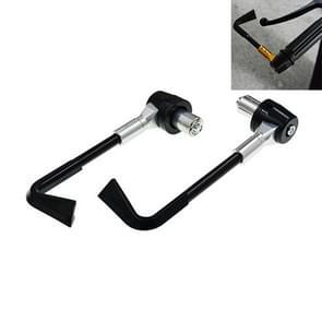2 PCS Universal 22mm Shockproof Protection Rod CNC Horn Shape Handbrake Motorcycle Modification Accessoires(Zilver)