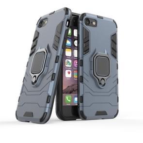 Voor iPhone SE2 Shockproof PC + TPU beschermhoes met magnetische ringhouder(Marine)