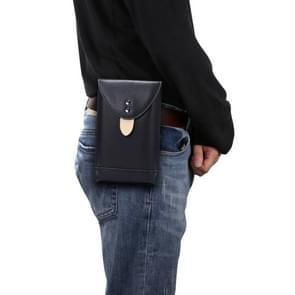 Voor 5 4 inch of lager Smartphones Mobiele Telefoon Universal Fanny Pack Leisure Sports Phone Case (Zwart)