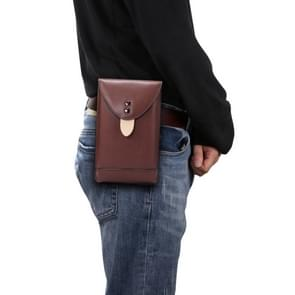 Voor 5 7 inch of lager Smartphones Mobiele Telefoon Universal Fanny Pack Leisure Sports Phone Case (Brown)