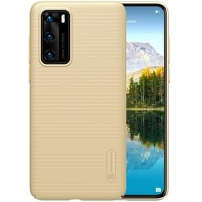 Voor Huawei P40 NILLKIN Frosted Concave-convexe Texture PC Case (Gold)