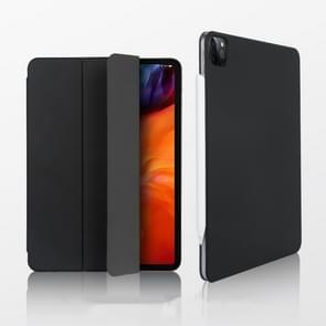 Voor iPad Pro 12.9 (2020) Benks Magnetic Horizontal Flip PU Lederen Case met Houder & Slaap / Wake-up Function(Zwart)