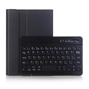 A290 Voor Galaxy Tab A 8.0 T290 / T295 (2019) Afneembare Bluetooth-toetsenbord lederen behuizing met standaardfunctie (zwart)